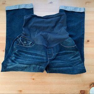 Motherhood Maternity Secret Belly Fit Capri Jeans